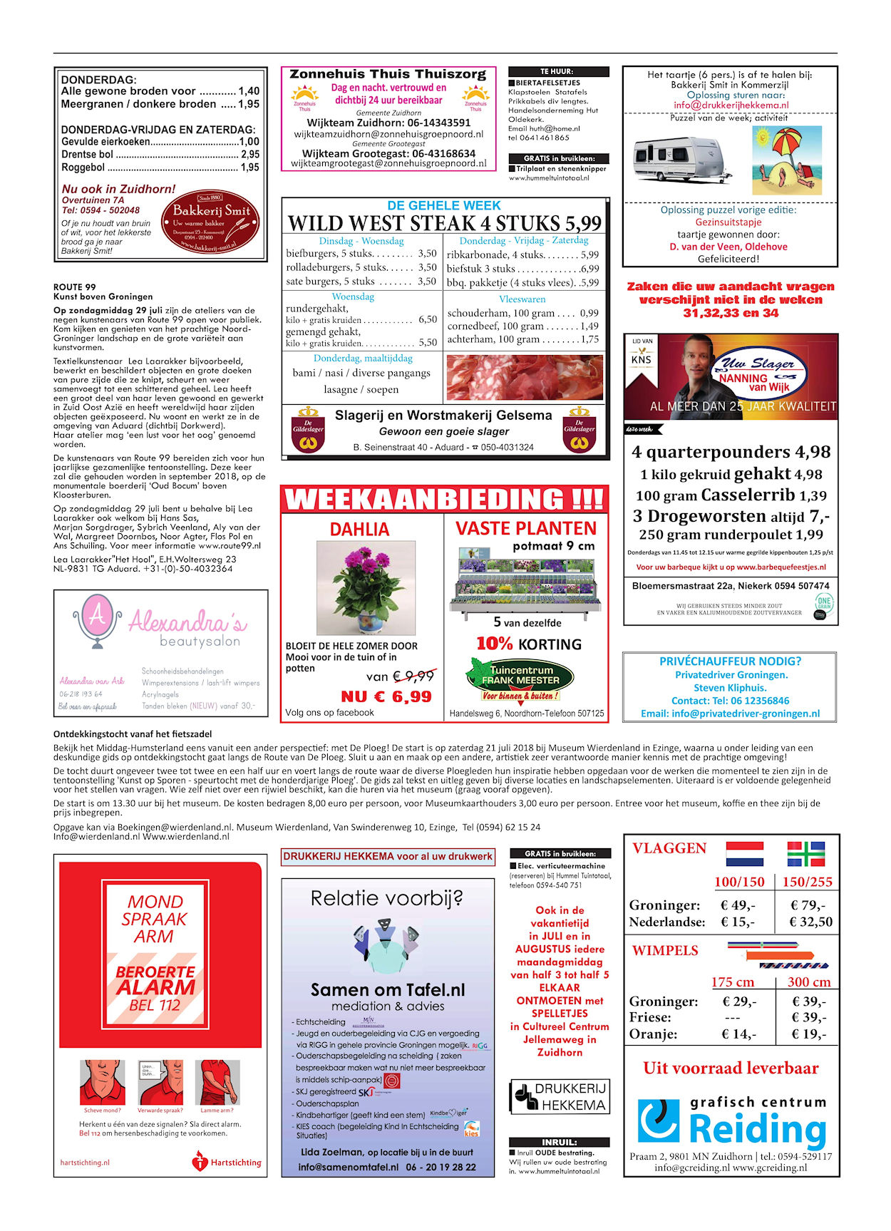 Drukkerij Hekkema - Zuidhorn - Zaken die uw aandacht vragen - 2018 week 29 (2)
