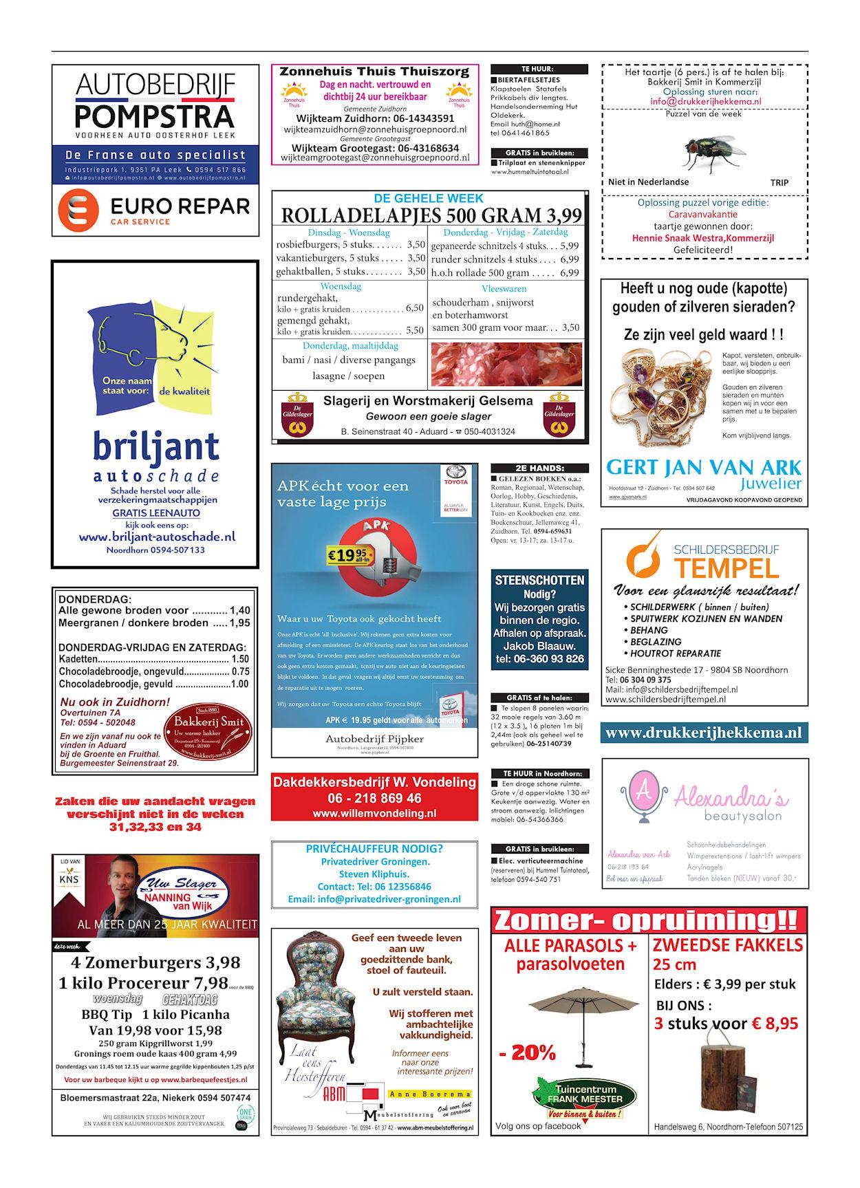 Drukkerij Hekkema - Zuidhorn - Zaken die uw aandacht vragen - 2018 week 30 (2)