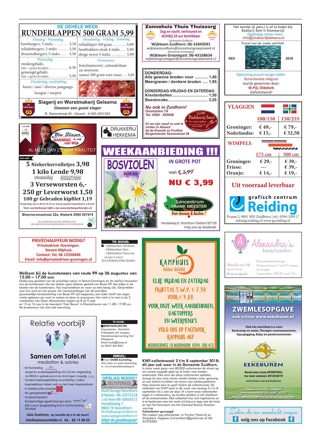 Drukkerij Hekkema - Zuidhorn - Zaken die uw aandacht vragen - 2018 week 35 (2)
