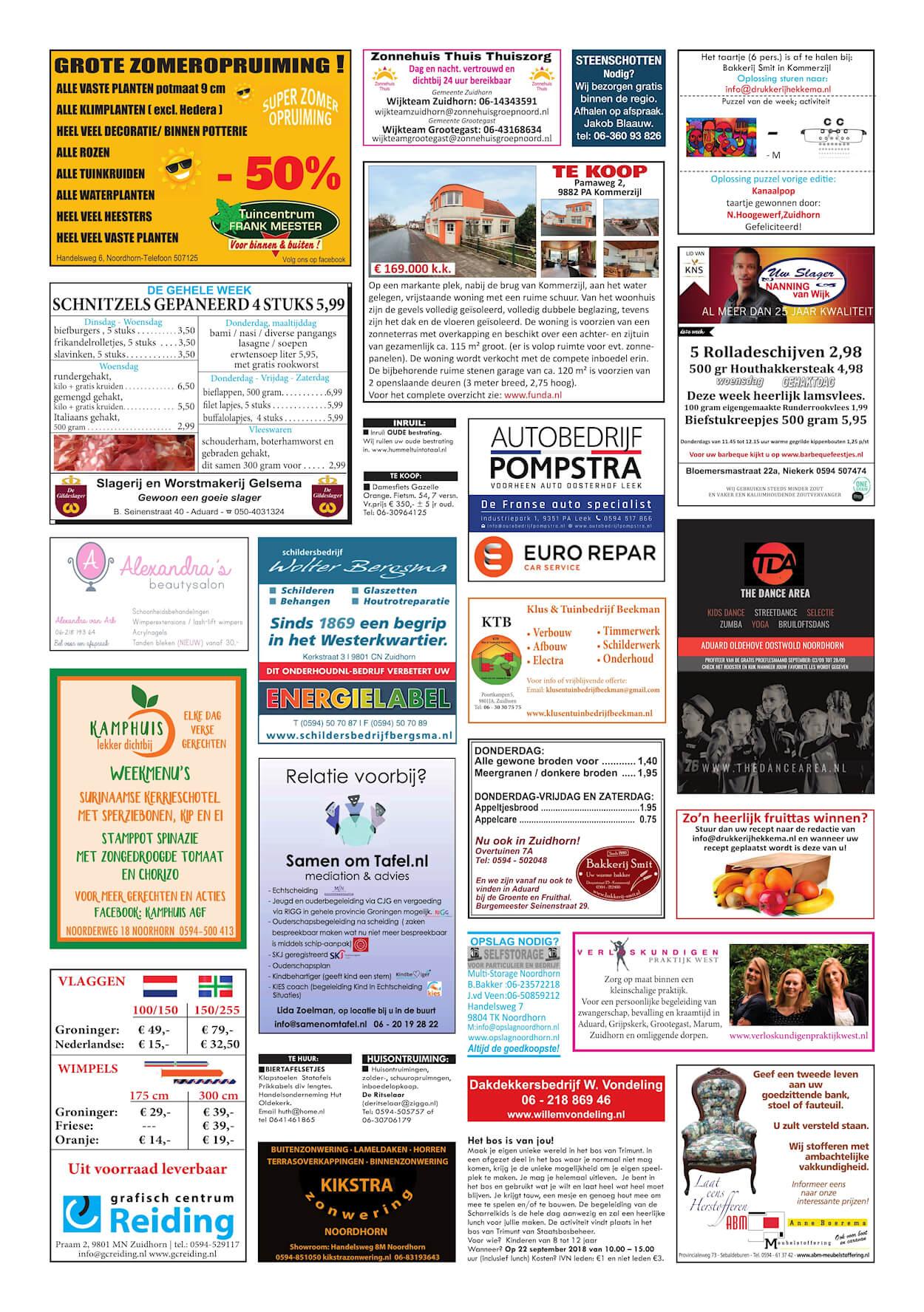 Drukkerij Hekkema - Zuidhorn - Zaken die uw aandacht vragen - 2018 week 37 (2)
