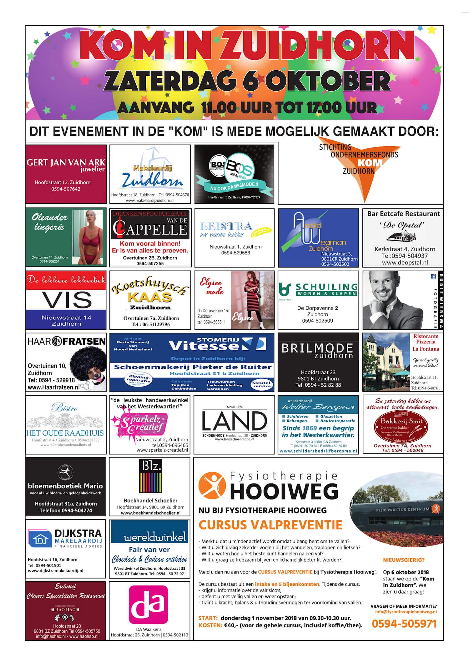 Drukkerij Hekkema - Zuidhorn - Zaken die uw aandacht vragen - 2018 week 40