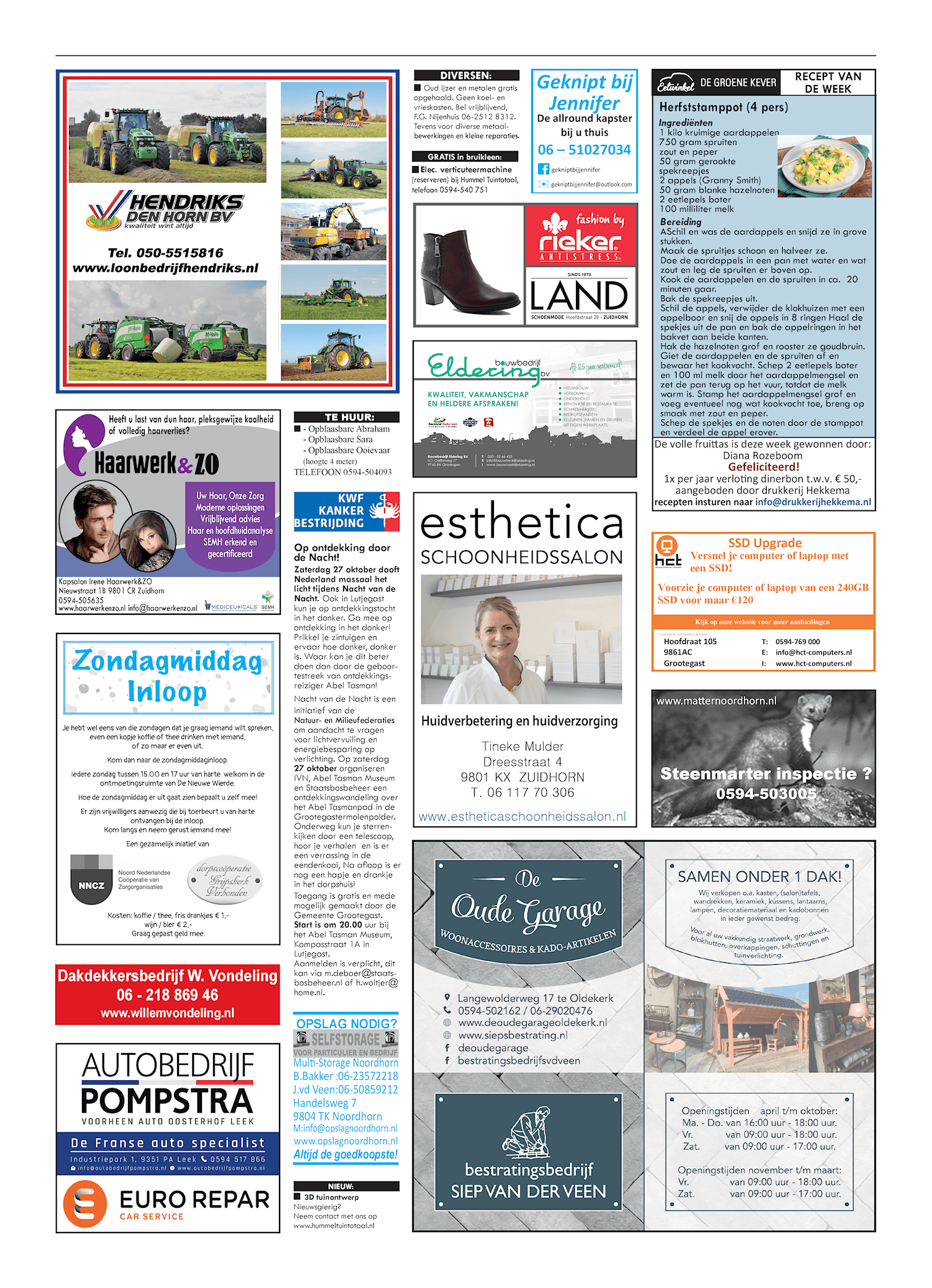 Drukkerij Hekkema - Zuidhorn - Zaken die uw aandacht vragen 2018 week 43