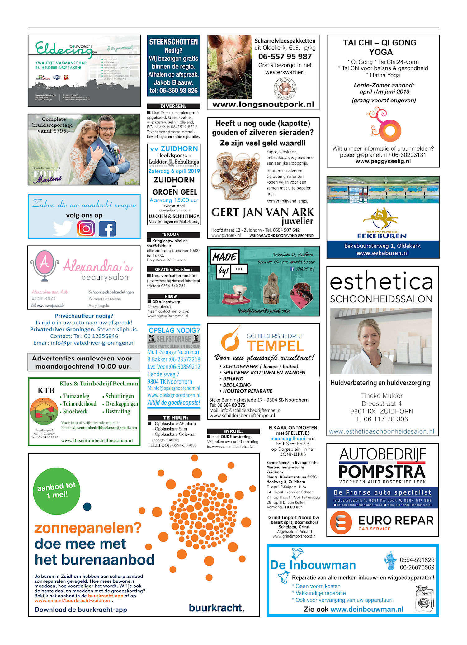 Drukkerij Hekkema - Zuidhorn - Zaken die uw aandacht vragen 2019 week 14