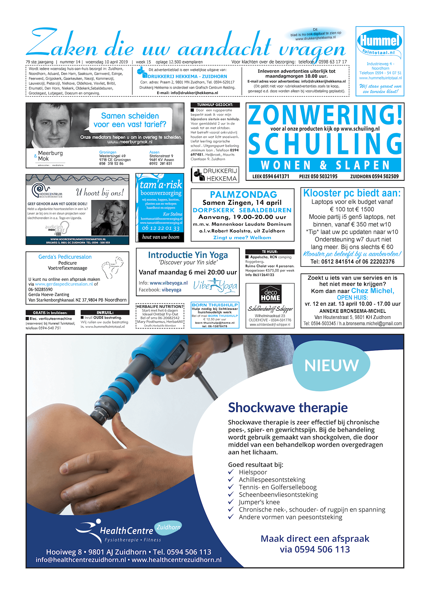 Drukkerij Hekkema - Zuidhorn - Zaken die uw aandacht vragen 2019 week 15
