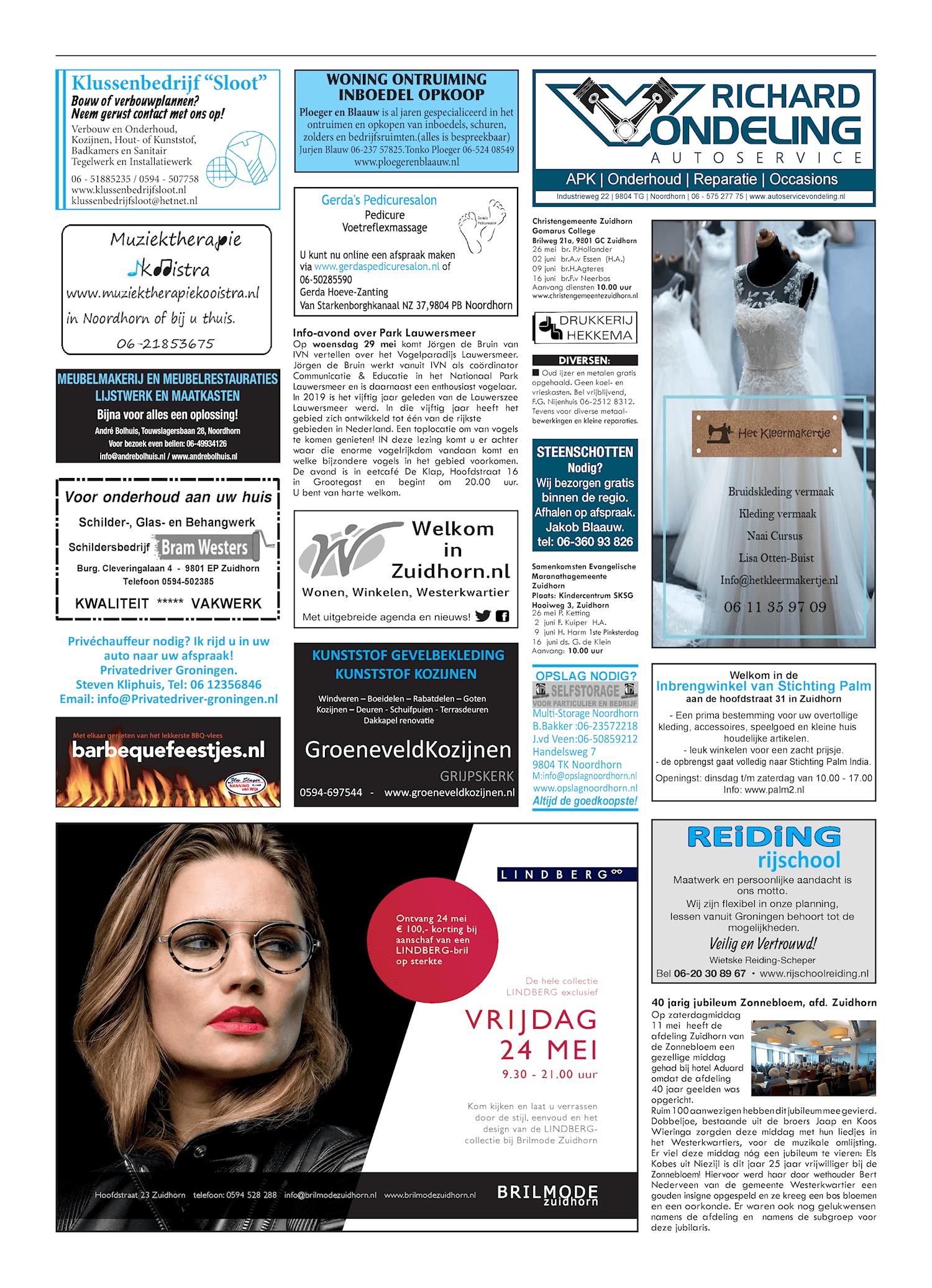 Drukkerij Hekkema - Zuidhorn - Zaken die uw aandacht vragen 2019 week 21