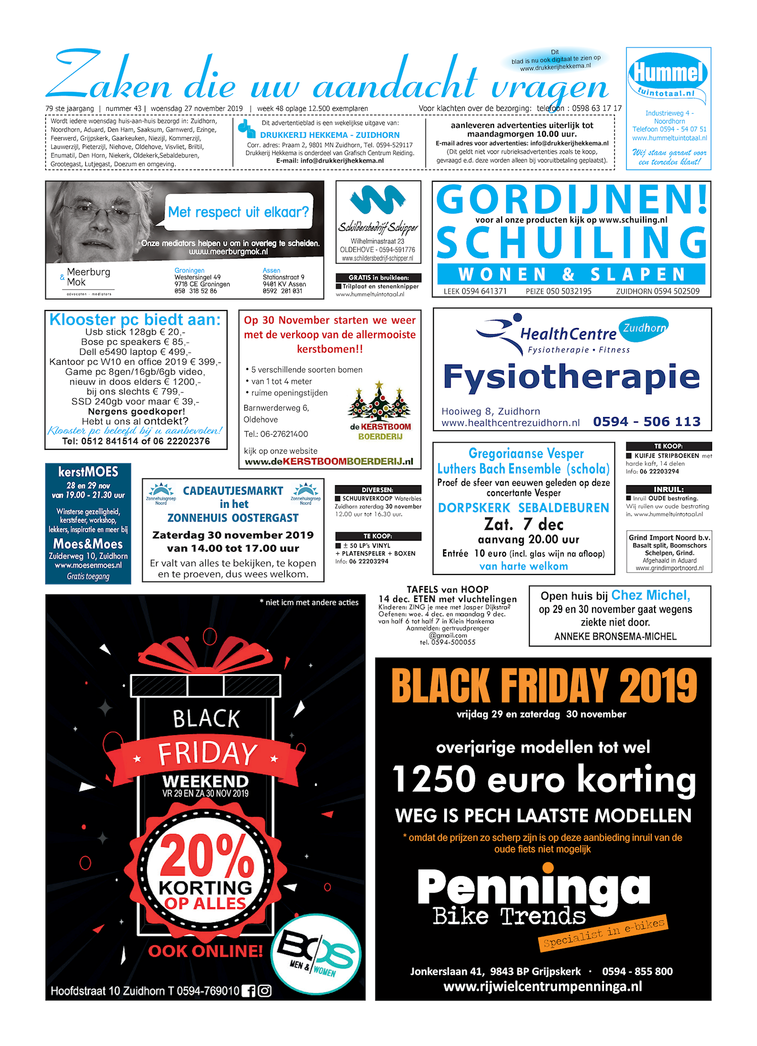 Drukkerij Hekkema - Zuidhorn - Zaken die uw aandacht vragen 2019 week 48