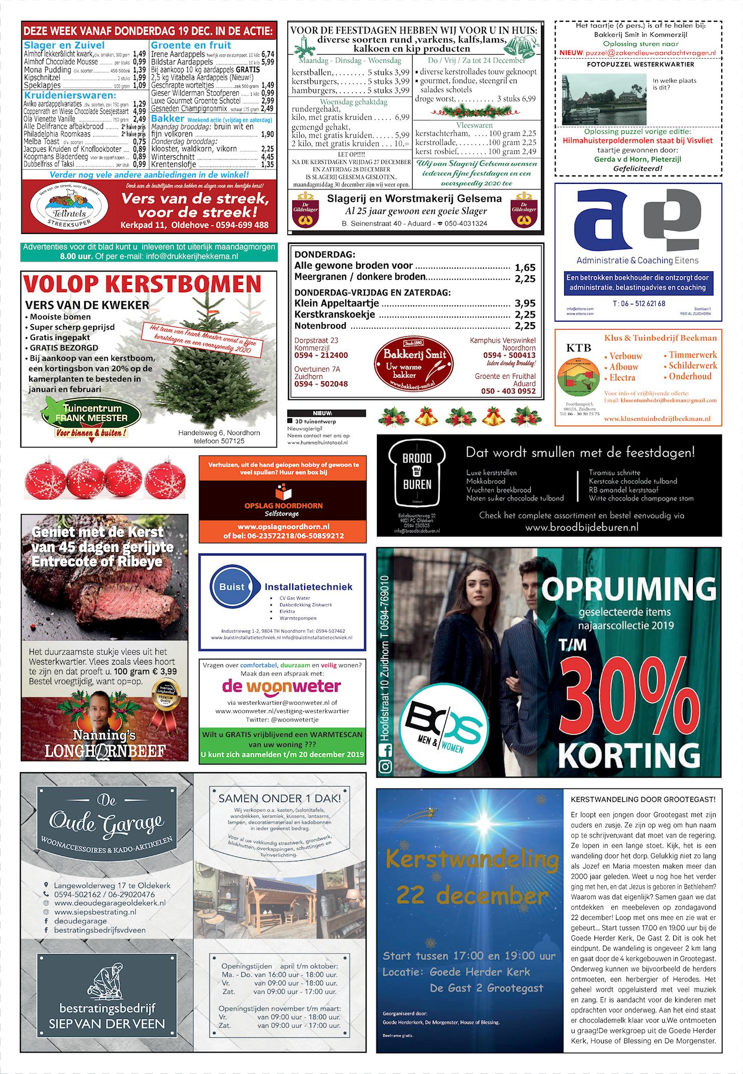 Drukkerij Hekkema - Zuidhorn - Zaken die uw aandacht vragen 2019 week 51