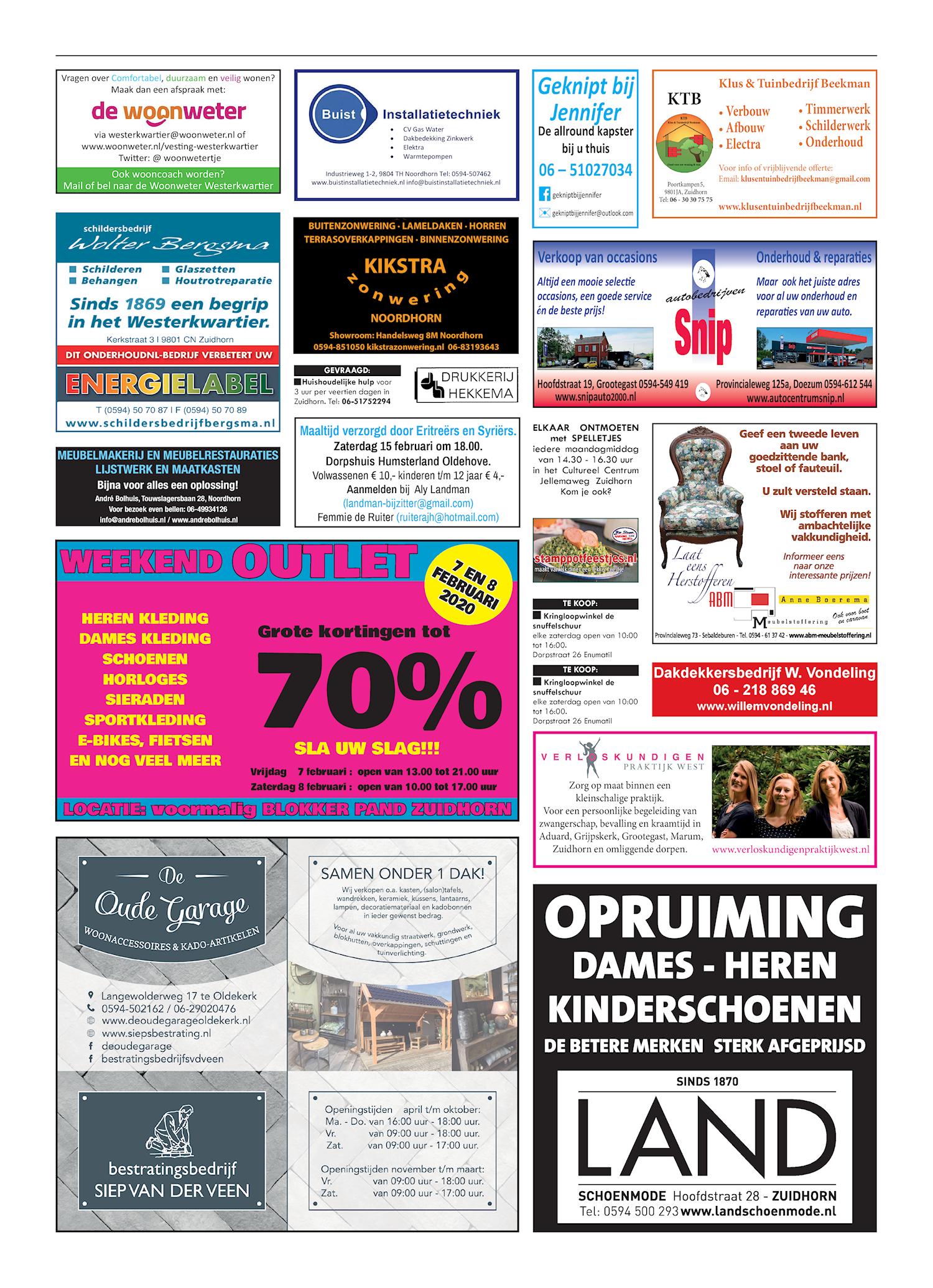 Drukkerij Hekkema - Zuidhorn - Zaken die uw aandacht vragen 2020 week 5
