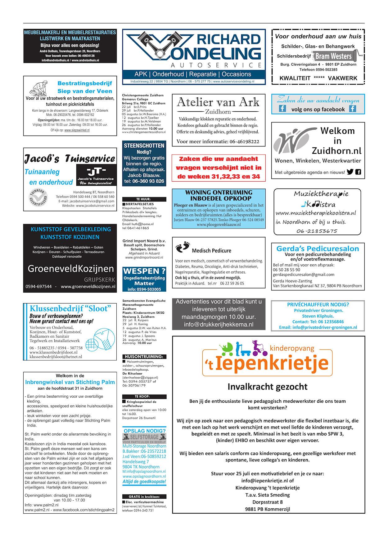 Drukkerij Hekkema - Zuidhorn - Zaken die uw aandacht vragen - 2018 week 29 (4)