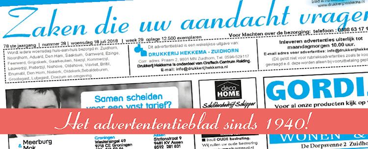 Drukkerij Hekkema - Zuidhorn - Zaken die uw aandacht vragen