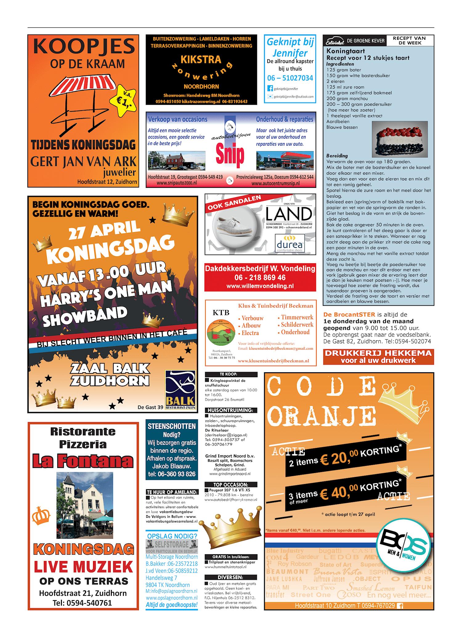 Drukkerij Hekkema - Zuidhorn - Zaken die uw aandacht vragen 2019 week 17