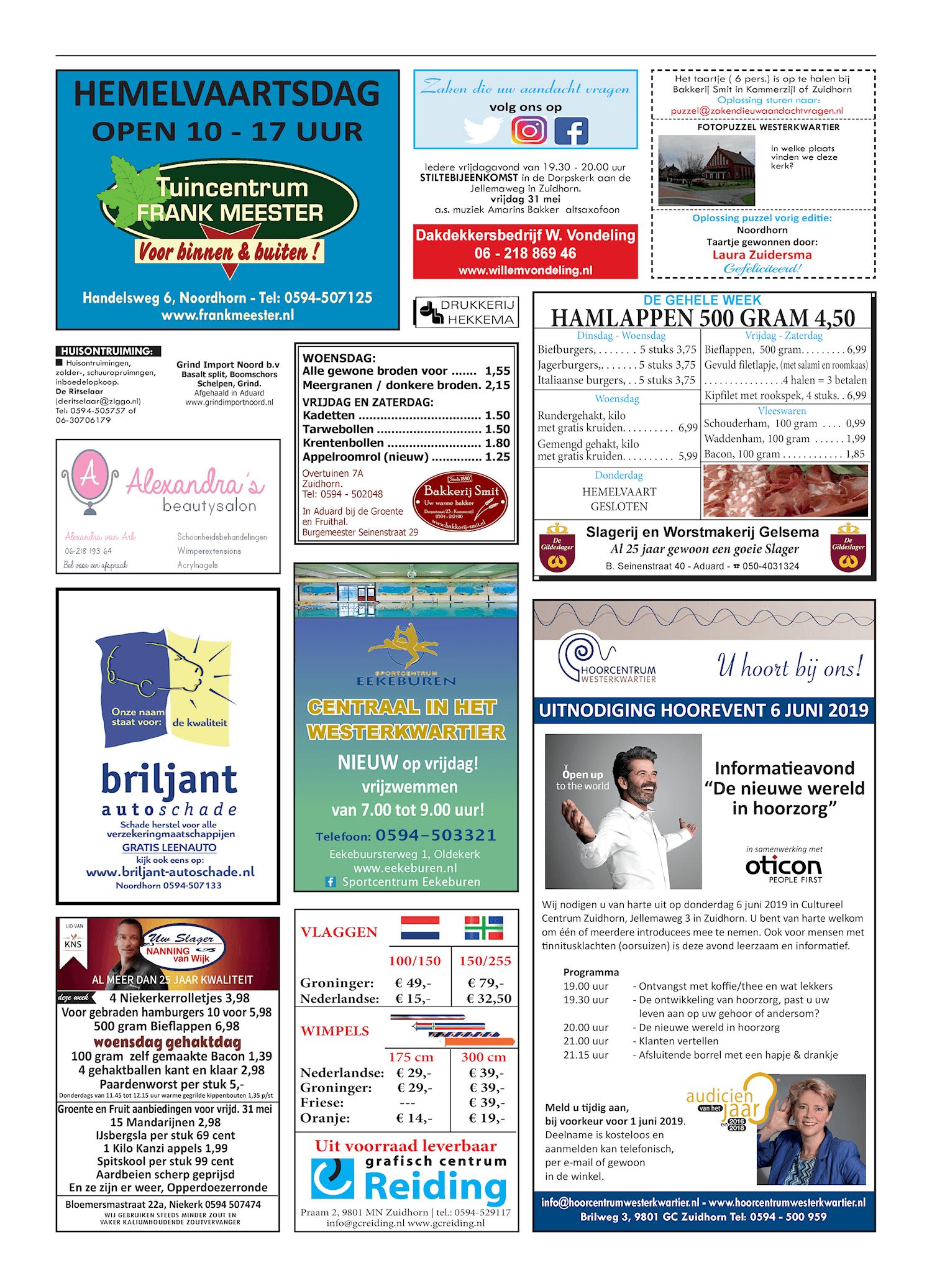 Drukkerij Hekkema - Zuidhorn - Zaken die uw aandacht vragen 2019 week 22