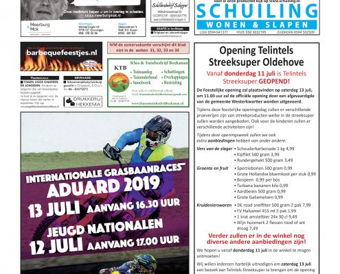 Drukkerij Hekkema - Zuidhorn - Zaken die uw aandacht vragen 2019 week 28