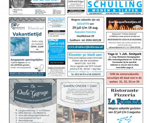 Drukkerij Hekkema - Zuidhorn - Zaken die uw aandacht vragen 2019 week 29