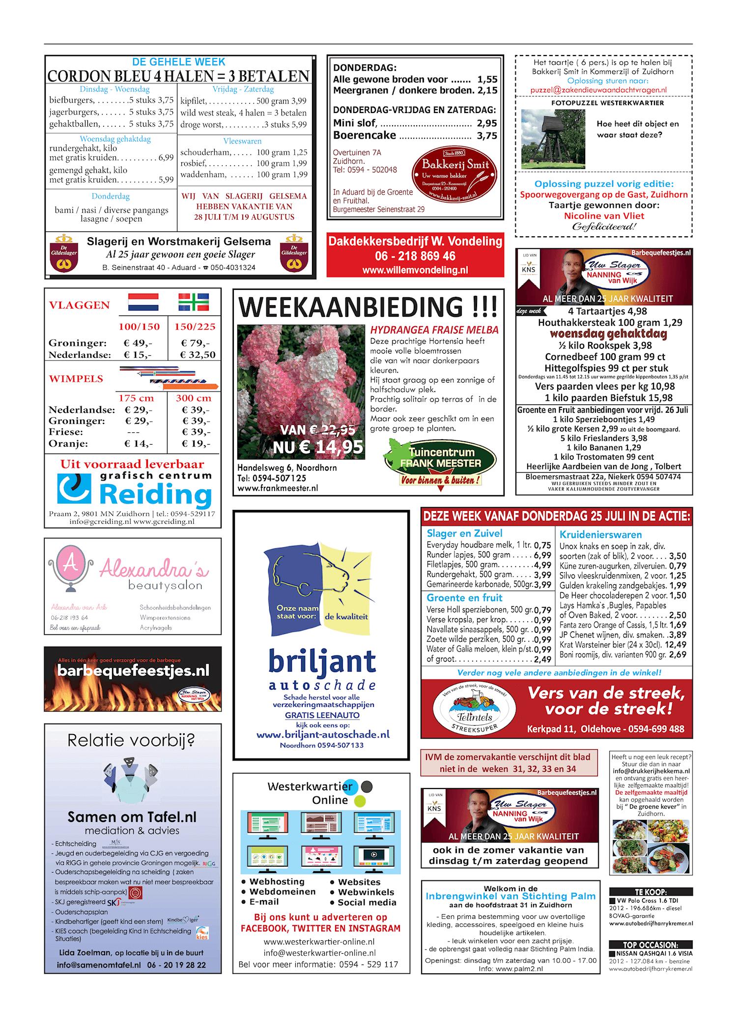 Drukkerij Hekkema - Zuidhorn - Zaken die uw aandacht vragen 2019 week 30