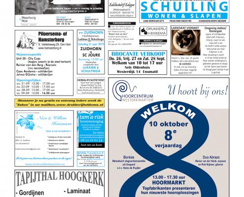 Drukkerij Hekkema - Zuidhorn - Zaken die uw aandacht vragen 2019 week 38