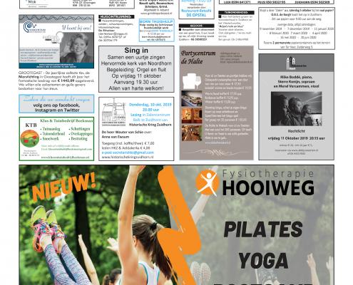 Drukkerij Hekkema - Zuidhorn - Zaken die uw aandacht vragen 2019 week 40