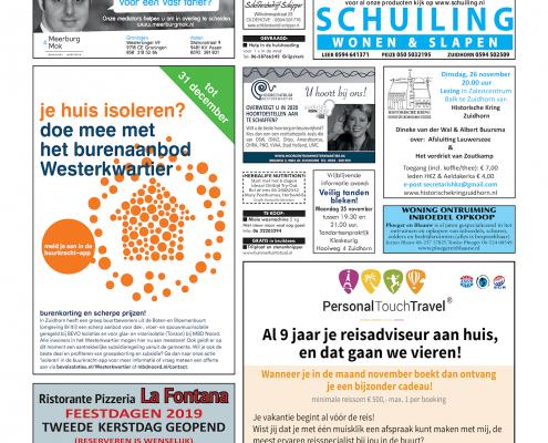 Drukkerij Hekkema - Zuidhorn - Zaken die uw aandacht vragen 2019 week 47