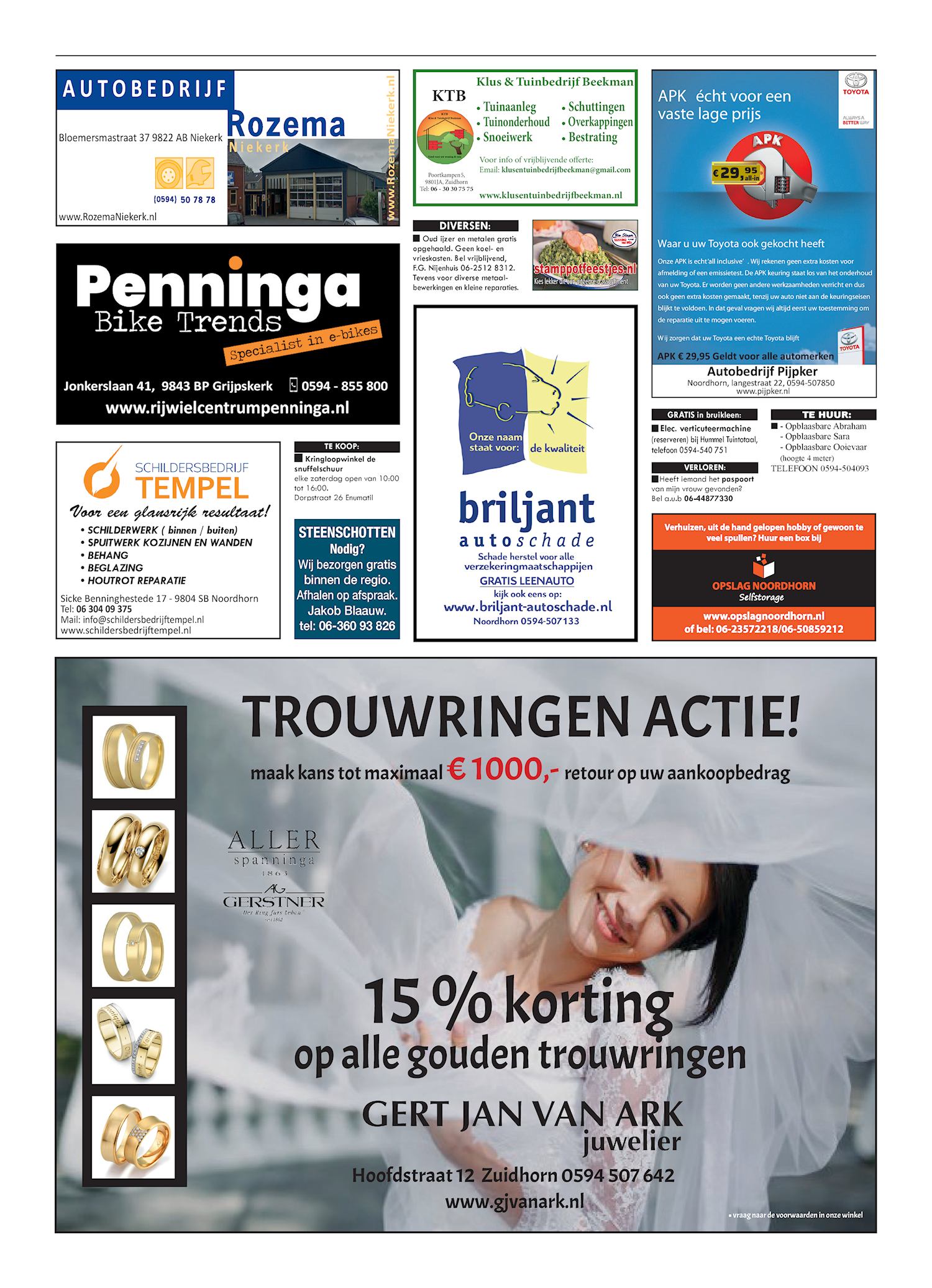 Drukkerij Hekkema - Zuidhorn - Zaken die uw aandacht vragen 2020 week 8